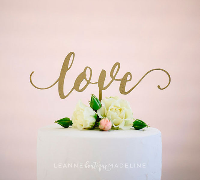 Love Is Cake Topper