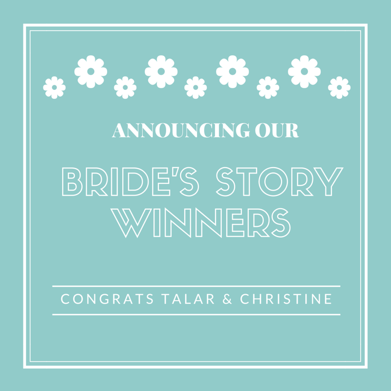 Announcing Our Bride's Story Winners