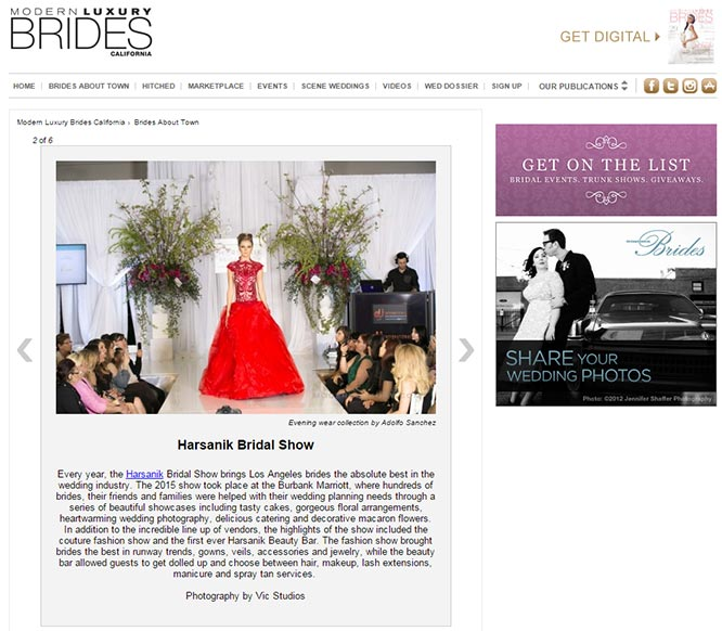 Harsanik Bridal Show Media Coverage - Modern Luxury Bride