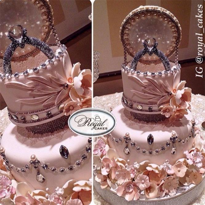 Как сделать кольца на торте