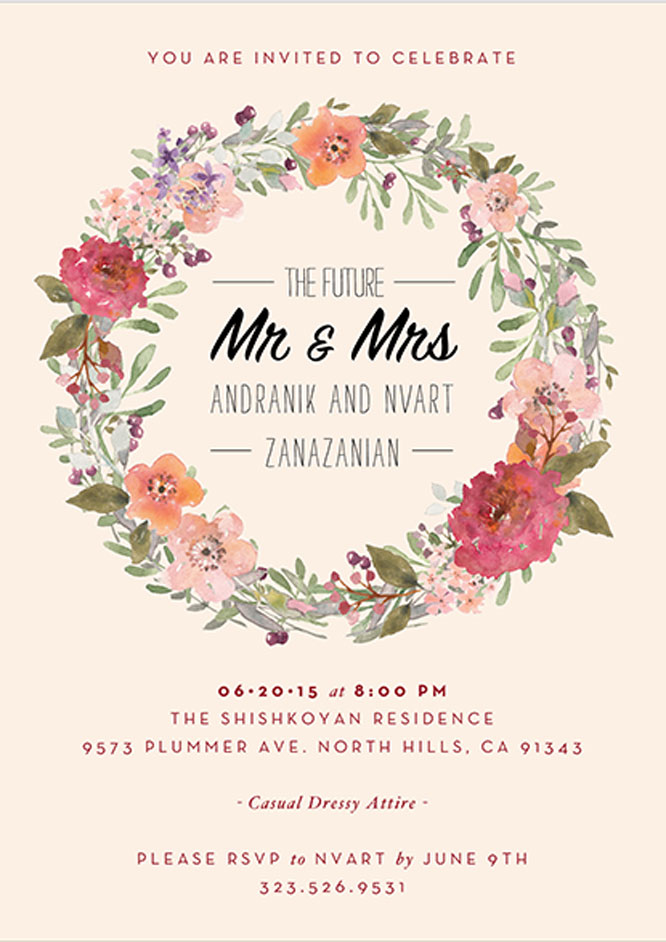 invitation trends florals