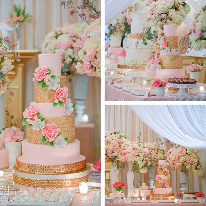 Wedding Sweet Table Desserts: Summer Wedding Dessert Table & Cake Ideas