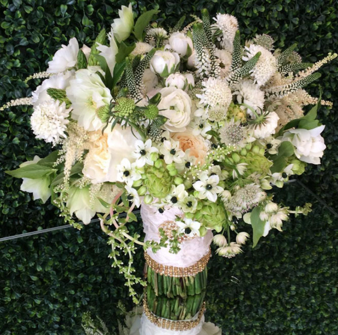 hand-tied bridal bouquet