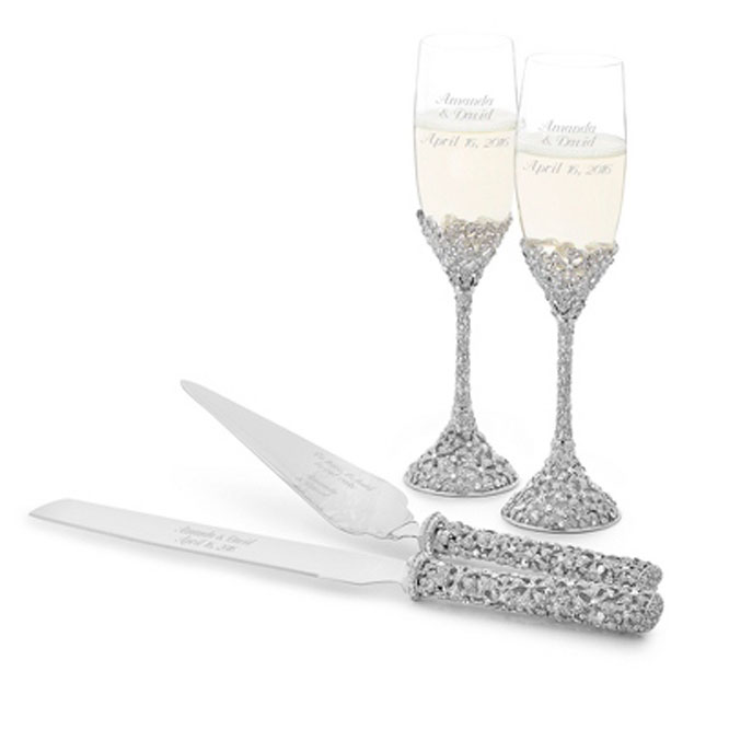 Champagne Flute and Cake Server