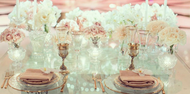 Copper and Rose Gold Wedding