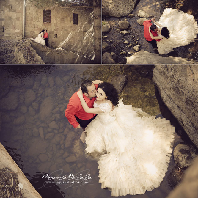 Trash the dress in Armenia
