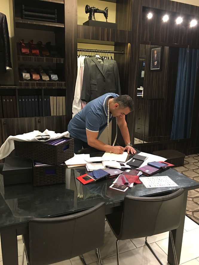 JB Clothiers Shant's First Fitting