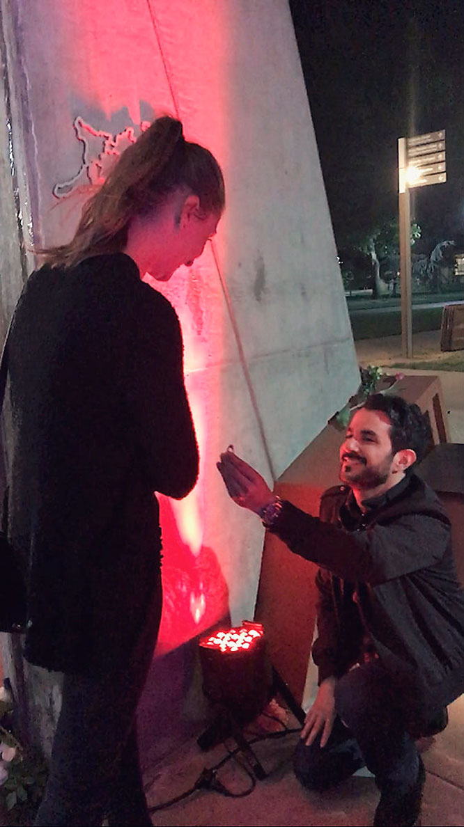Mitchell and Marine's Proposal on April 24