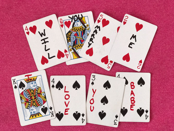 Will You Marry Me with Deck of Cards