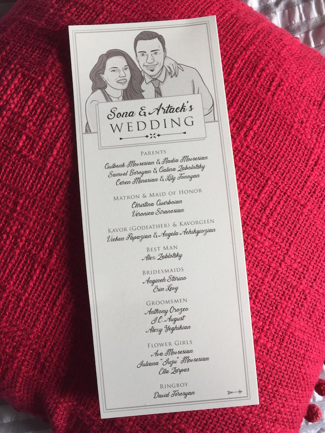 Sona and Tak's Custom Wedding Program