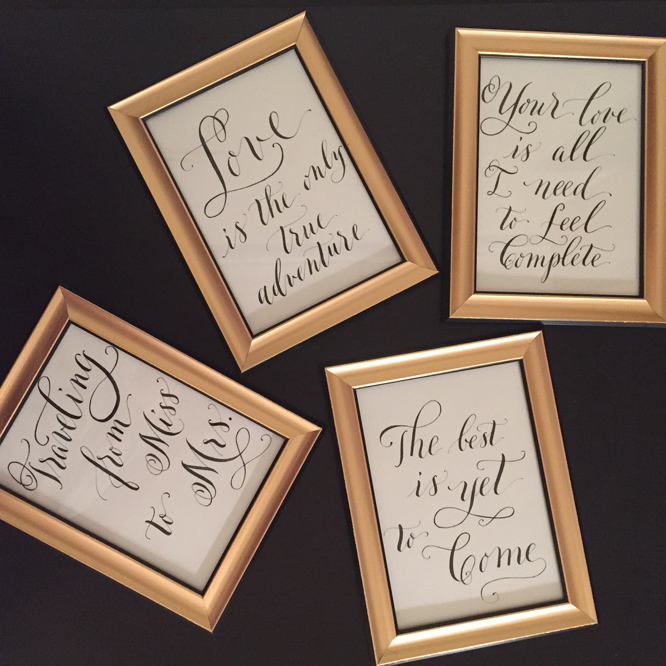 truly.madly.ink. framed quotes